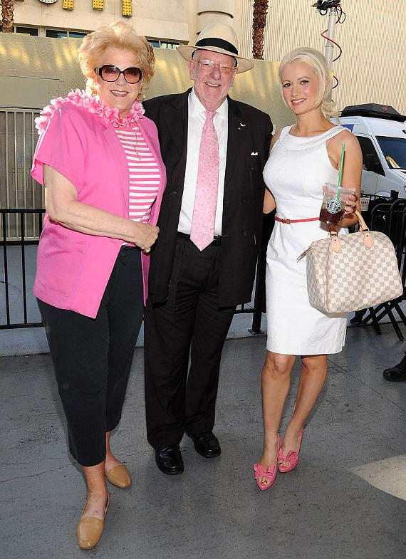 Carolyn Goodman, Mayor Oscar Goodman and Holly Madison