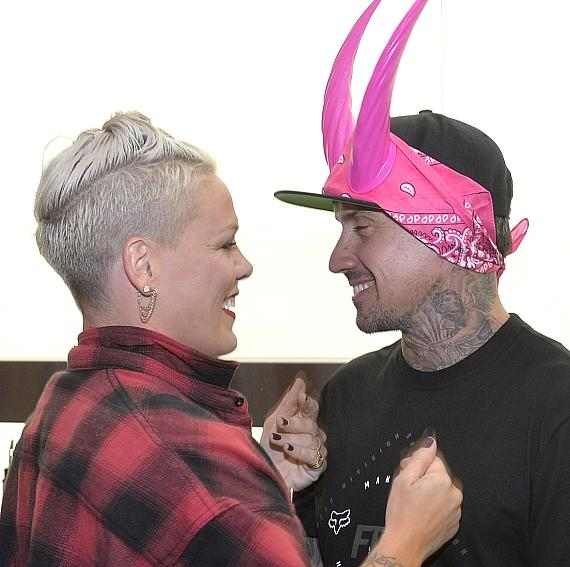 Pink with Carey Hart at The D Casino Hotel Las Vegas