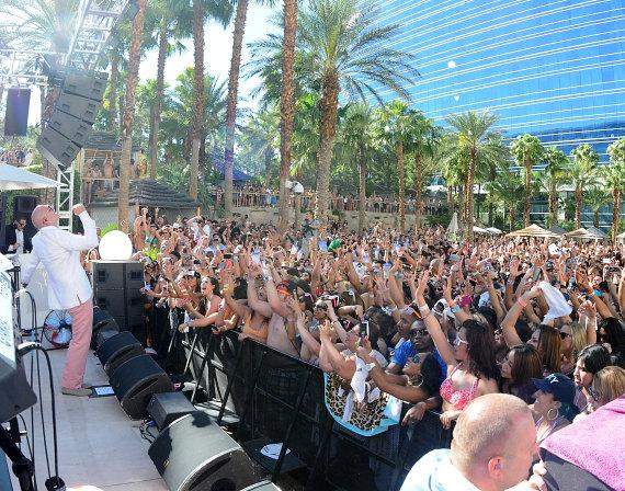 Pitbull performs at Rehab at Hard Rock Hotel & Casino