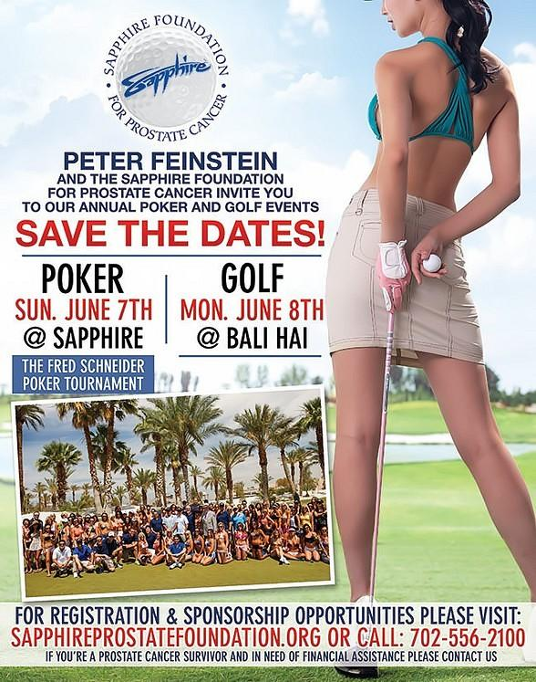 Sapphire Foundation for Prostate Cancer to hold Poker and Golf Tournaments on June 7-8