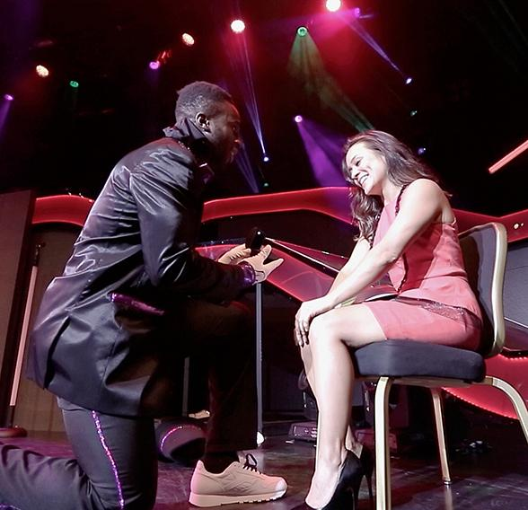 New York Giant Prince Amukamara Proposes to Girlfriend During Jabbawockeez Show in Las Vegas
