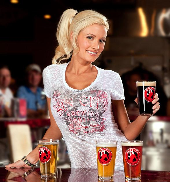 Holly Madison at Sin City Brewing Co. in Las Vegas