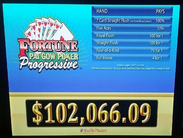 The Progressive Pai Gow Poker Jackpot at the Plaza Hotel & Casino Now Stands at Over $102,000