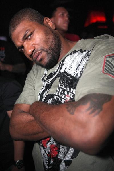 Rampage Jackson at Rain Nightclub