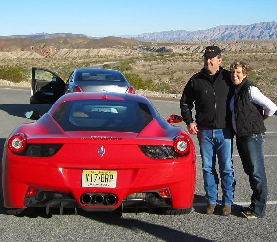 Andy Spinks with the Ferrari 458 Italia
