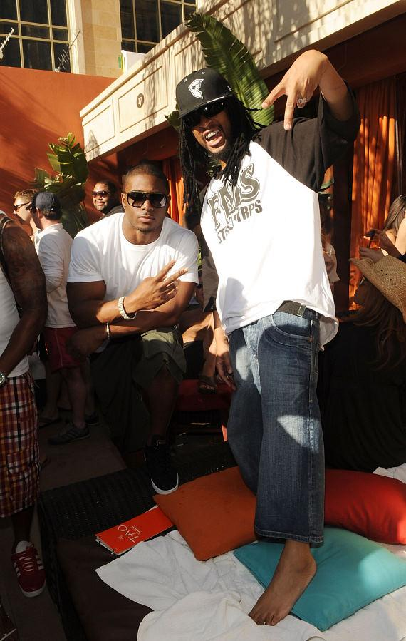 Lil Jon and Reggie Bush at TAO Beach