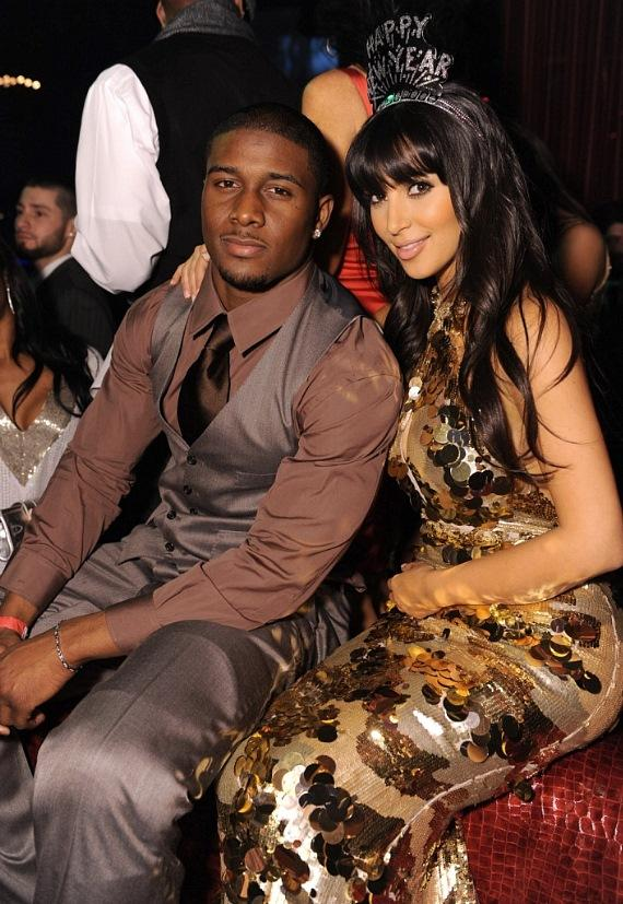 Reggie Bush and Kim Kardashian celebrate at LAX Nightclub (Photo Courtesy of Jordan Strauss / Getty Images)