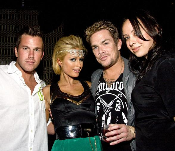 Doug Reinhart, Paris Hilton, Mark McGrath and Carin Kingsland