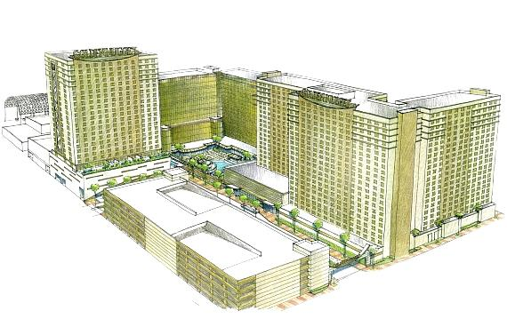 Rendering of Golden Nugget property with new Rush Tower