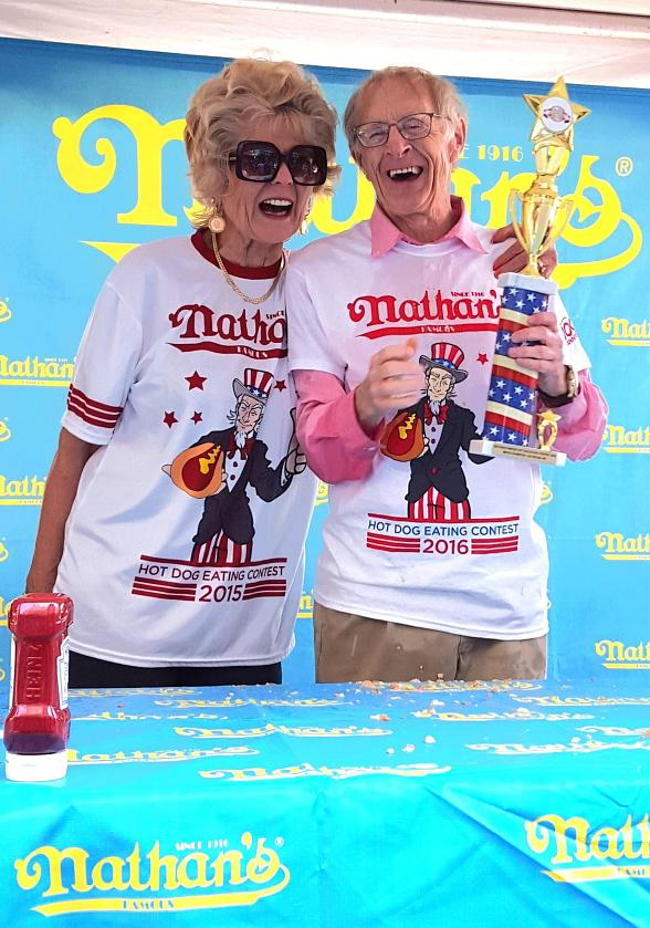 Nevada Champions Crowned at Nathan's Famous Hot Dog Eating Contest at New York-New York Hotel & Casino
