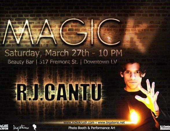 Magician R.J. Cantu to Perform at Beauty Bar March 27