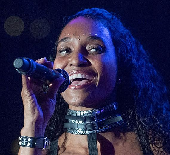"Rozonda Thomas, Chilli of TLC, performs at Downtown Las Vegas Events Center for ""I Love The 90s"""