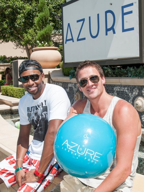 Cullen Jones and Ryan Lochte at Azure