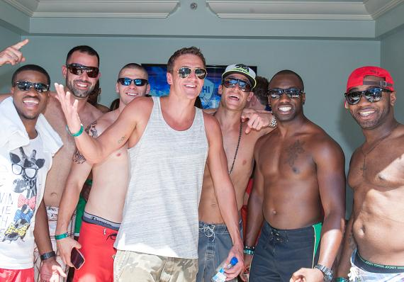 Ryan Lochte and friends at Azure