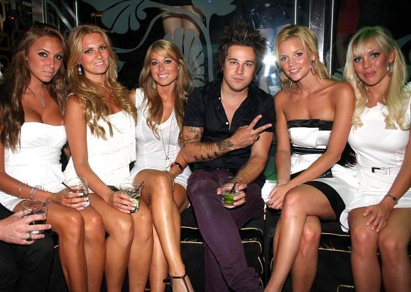 Ryan Cabrera and Swedish Bikini Team