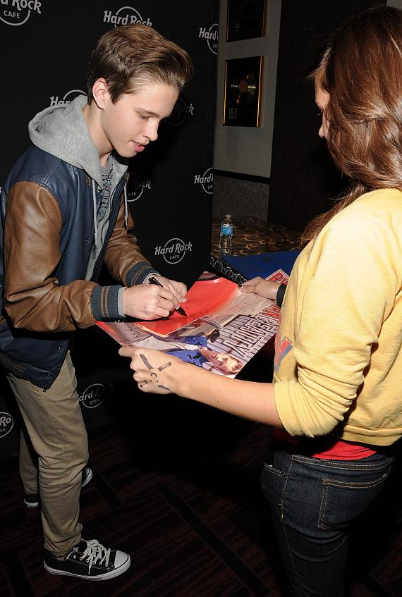 Ryan Beatty signs autographs for fans at Hard Rock Cafe on the Strip