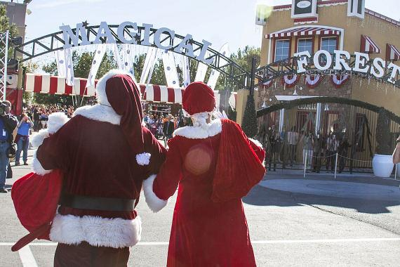 Santa arrives at Opportunity Village Magical Forest