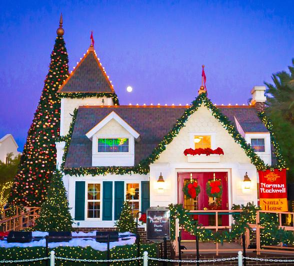 Santa House at dusk - Town Square Las Vegas