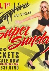 Sapphire Las Vegas, The World's Largest Gentlemen's Club, Kicks Off Vegas's Biggest & Sexiest Super Sunday Football Party February 1, 2015