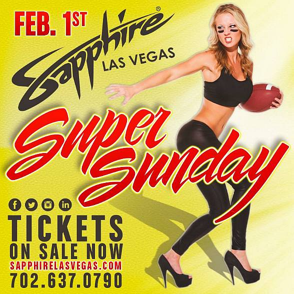 Sapphire Las Vegas Kicks Off the Biggest & Sexiest Super Sunday Football Party with Adult Star Kendra Lust on February 1, 2015