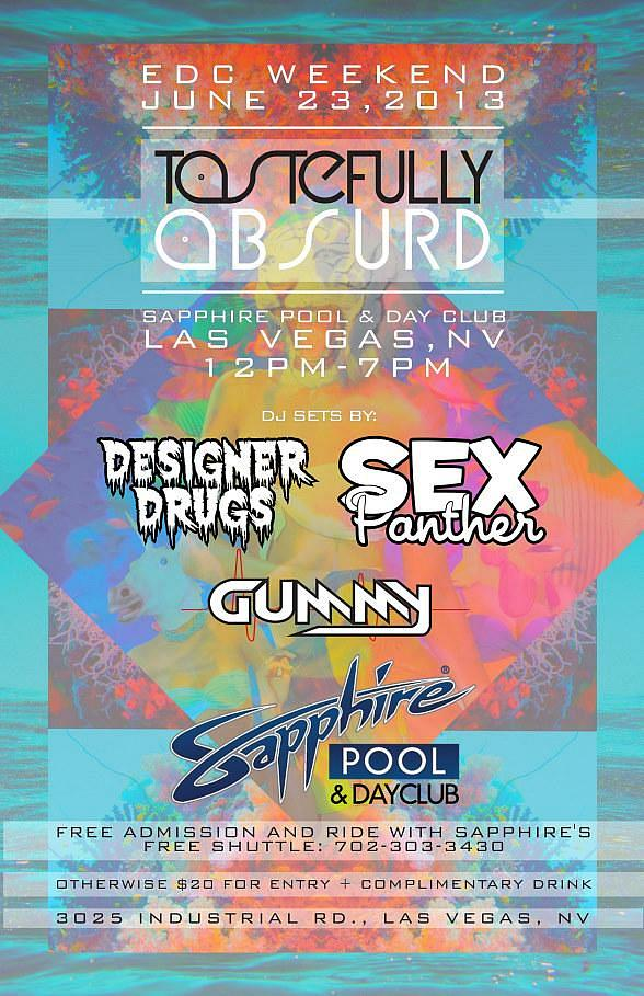 Sapphire Pool & Dayclub Hosts Tastefully Absurd with SKAM Artist Chris Garcia and Sex Panther DJs on Sunday, June 23