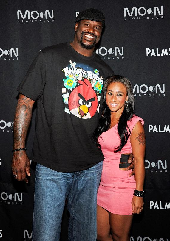 Shaq and Nicole Alexander at Moon Nightclub