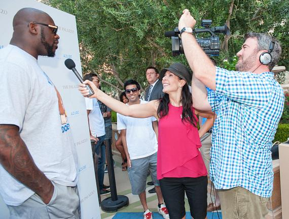 Shaquille O'Neal at Azure Luxury Pool at The Palazzo