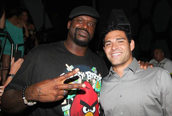 Shaq with Mark Sanchez