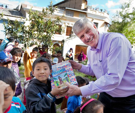 Virtual shoebox gifts are distributed to children in need around the world