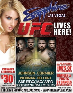 Watch UFC 187: Johnson vs. Cormier at Sapphire Las Vegas May 23