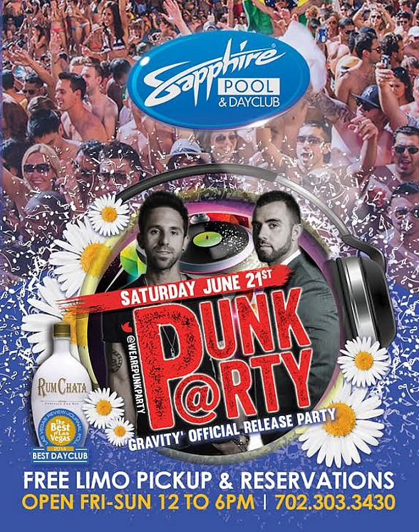 Punk Party 'Gravity' Official Release Party at Sapphire Pool and Day Club, Saturday June 21