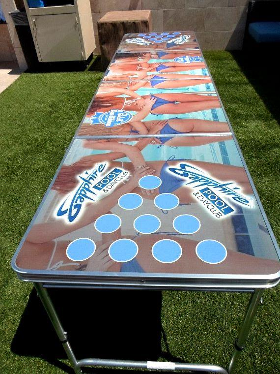 Beer Pong table at Sapphire Pool & Dayclub