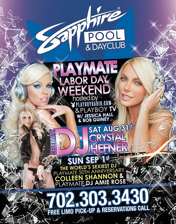 "DJ Crystal Hefner to Host ""Playboy Playmate Weekend"" at Sapphire Pool & Dayclub on Labor Day Weekend"