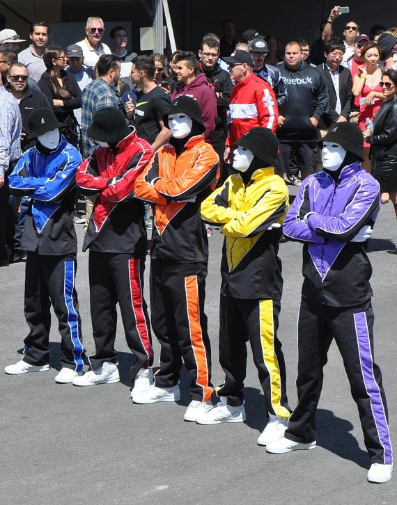 Jabbawockeez at SPEEDVEGAS grand opening