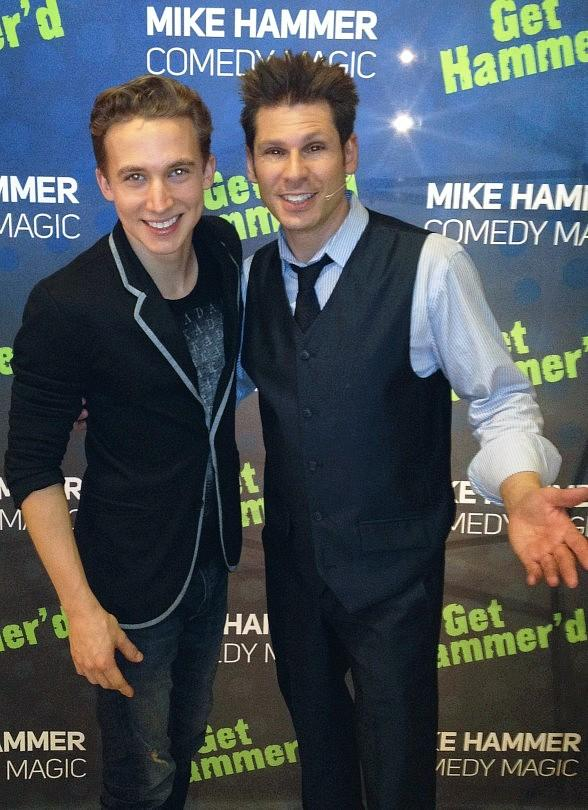 Spencer Horsman of America's Got Talent with magician Mike Hammer and Spencer Horsman of America's Got Talent