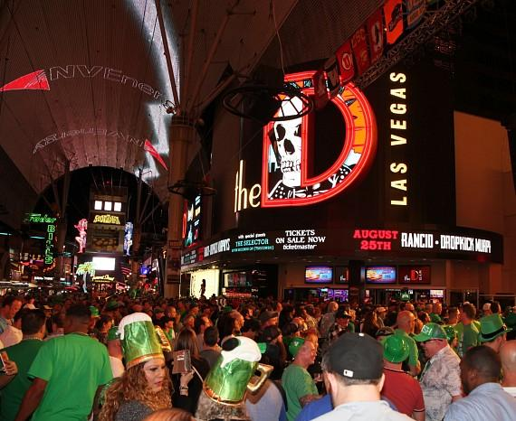 St. Patrick's Day at the D Casino Hotel in Las Vegas