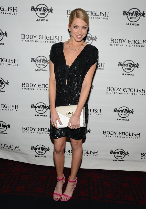 Stassi Schroeder arrives at Body English Nightclub in Las Vegas