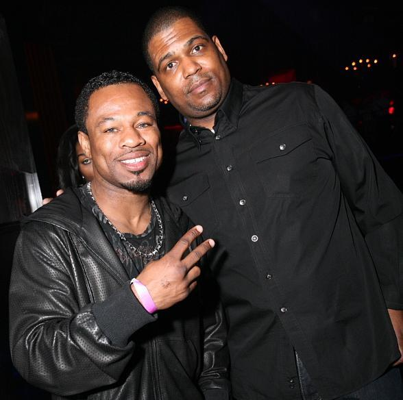 """Sugar"" Shane Mosley and guest at LAX Nightclub"