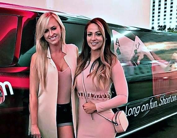 Summer Rae with Emma of the WWE at the D Casino Hotel Las Vegas