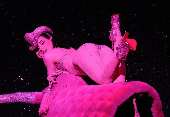 Dita Von Teese performs at The House Of Blues in Las Vegas