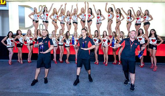 The D Flair Bartenders with Miss D Legs Contestants in Las Vegas