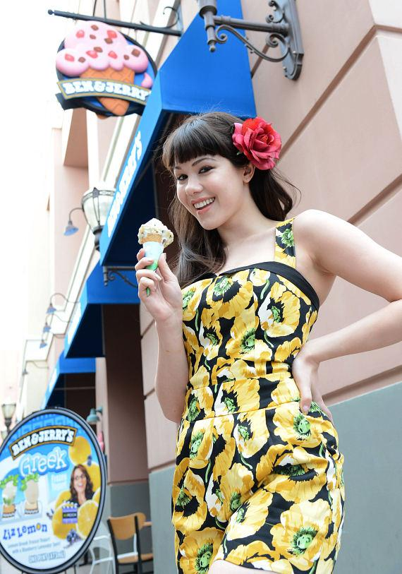 Claire Sinclair with ice cream cone