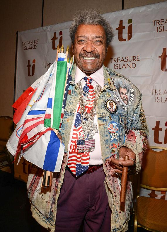 Boxing Promoter Don King at Treasure Island Resort & Casino in Las Vegas