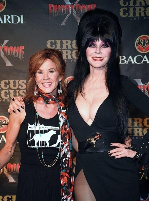 Exorcist Star Linda Blair and Elvira - Mistress of the Dark Celebrate the Grand Opening of Fright Dome