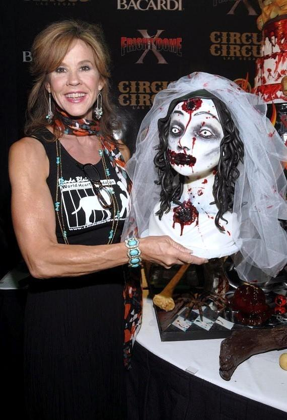 Exorcist Star Linda Blair at the Grand Opening of Fright Dome