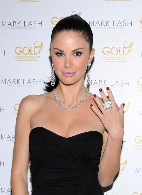 Jayde Nicole, Heather Tom, Michael Stagliano at Mark Lash Jewelry Showcase at Gold Nightclub in Las Vegas