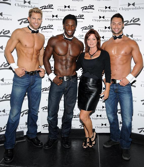 Actress Sheila Kennedy visits Chippendales in Las Vegas