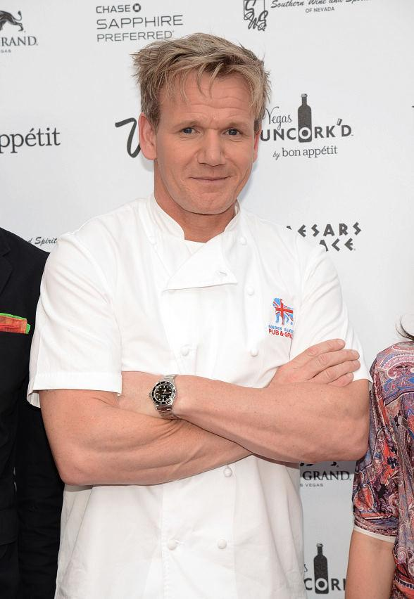 Gordon Ramsay, Bobby Flay and Iron Chef Masaharu Morimoto at Vegas Uncork'd by Bon Appétit