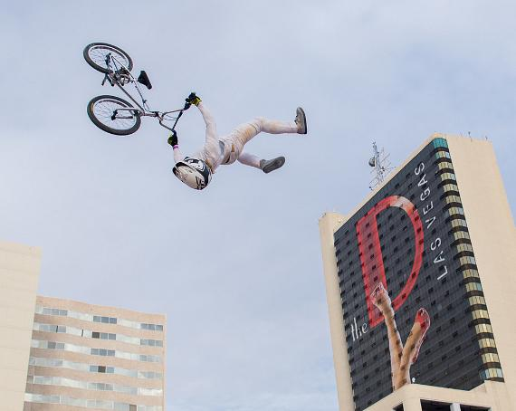 BMX riders at Skiing at The Las Vegas Throw Down Action Sports/Music Festival