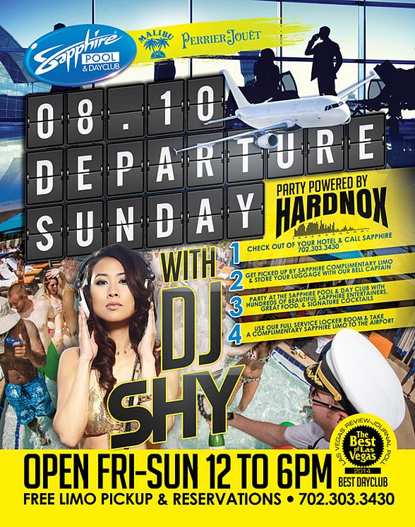 "Sapphire Pool & Day Club to Host ""Departure Sunday"" with Music by Hardnox August 10"